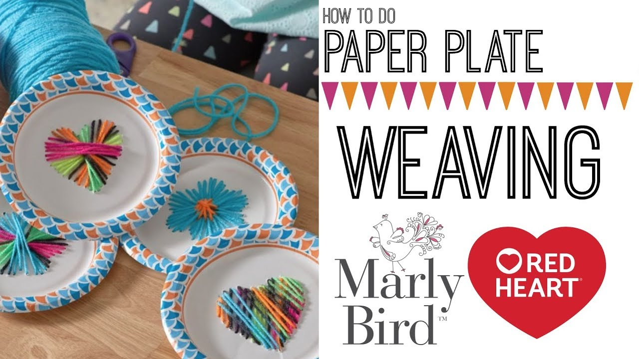 Diy Kids Craft Paper Plate Weaving And String Art Youtube