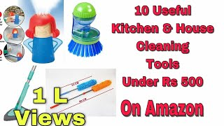 10 Useful Kitchen & House cleaning Tools Available On Amazon Rs 500 | #kitchencleaning #cleaning