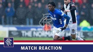 REACTION | Ovie Ejaria | St Mirren 0-2 Rangers