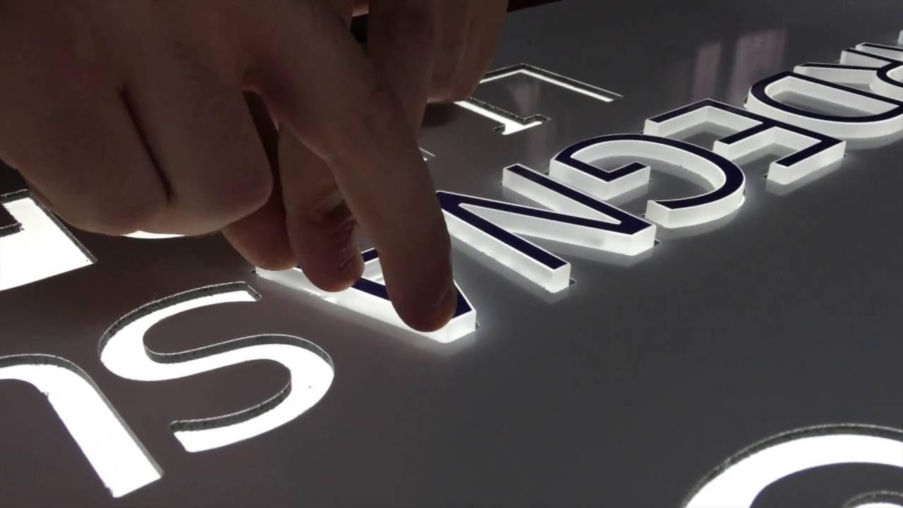 Eccezionale Insegna Luminosa Box Led - YouTube GM88