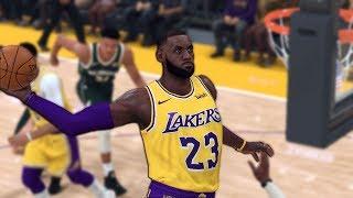 NBA 2K20 Gameplay - Milwaukee Bucks vs. Los Angeles Lakers - Full Gameplay
