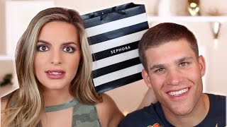 MY BOYFRIEND BUYS MY MAKEUP! | Casey Holmes