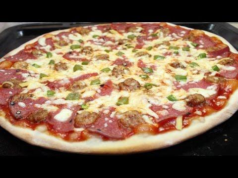 صورة  طريقة عمل البيتزا طريقة عمل البيتزا الايطالية الرقيقة بالجمبري و اللانشون - Italian Pizza طريقة عمل البيتزا من يوتيوب