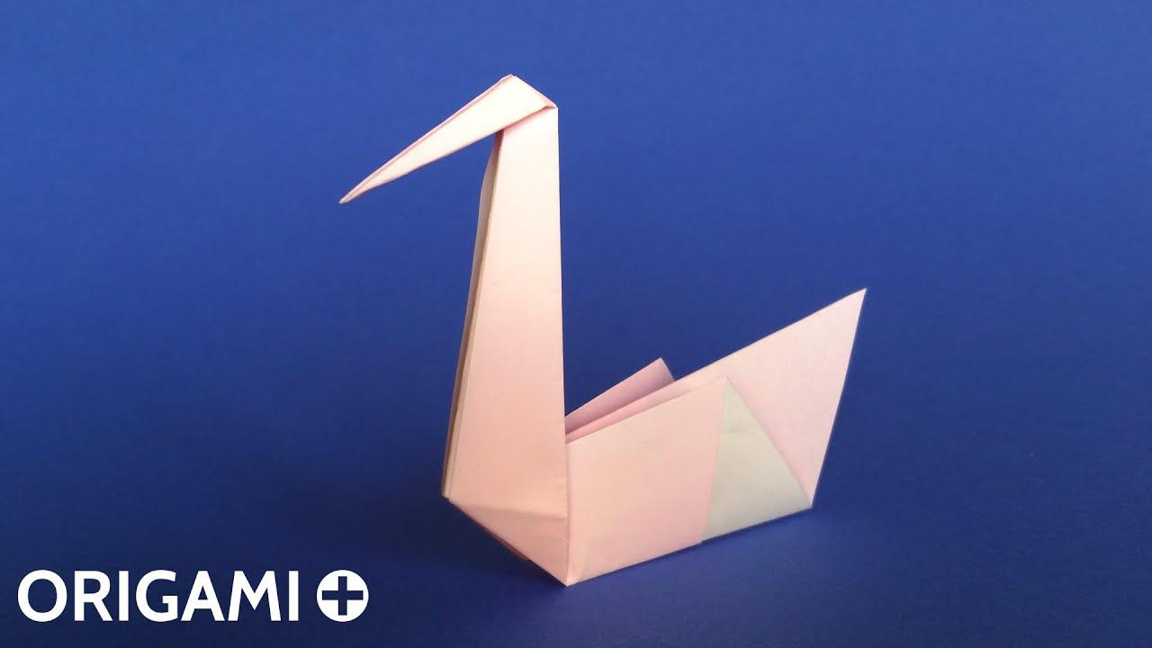 Origami swan traditional model cygne cisne cigno youtube sciox Choice Image