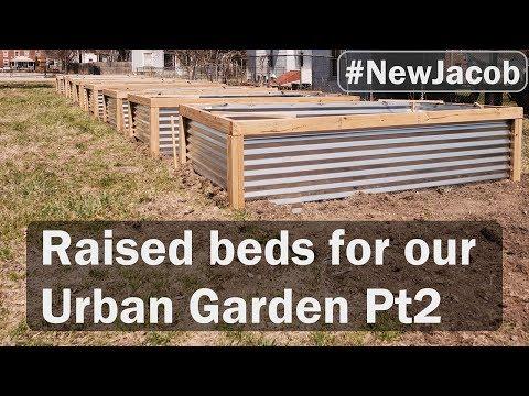 Garden Boxes Pt 2 building raised beds for our urban garden
