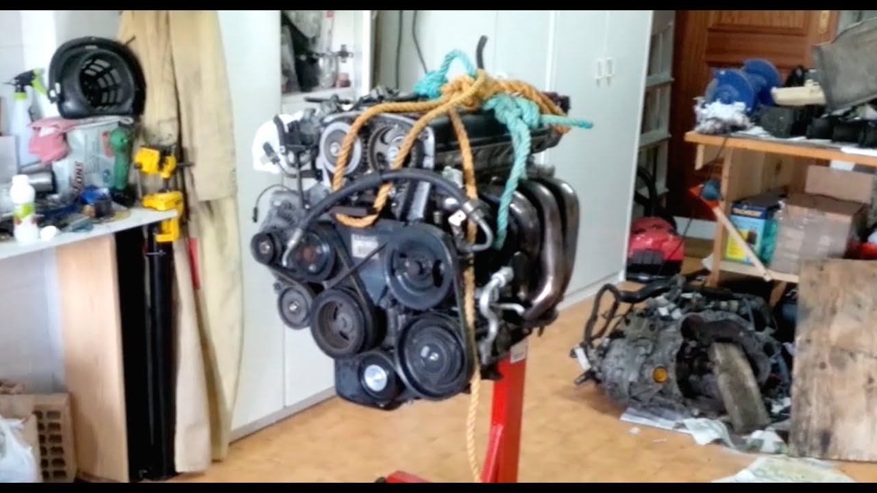 How To Put Your Engine On The Stand Youtube Acura K20a2 Diagram