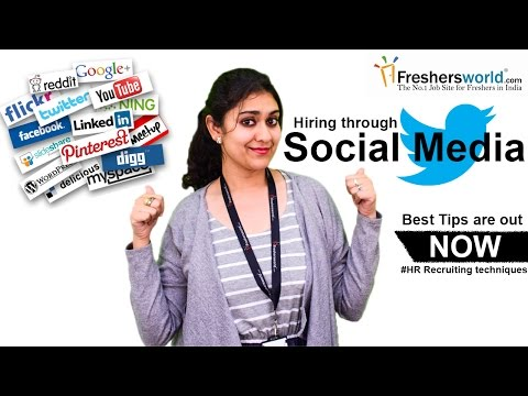 Social Media: Recruiting and Hiring || Social media role in entry level hiring II HR Recruiting Tips