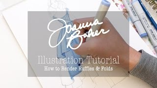Joanna Baker Illustration - Ruffles & Folds Drawing Tutorial