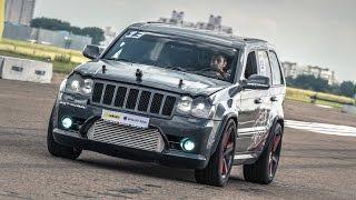Jeep SRT8 Turbo vs Lamborghini Gallardo vs Nissan GT-R(Jeep Grand Cherokee SRT-8 Custom Turbo (1200 HP), Kirill S. vs Nissan GT-R (R35) Mk.1 DT1500R (1800 HP), Oleg K. vs Lamborghini Gallardo Nera Exelixis ..., 2014-12-15T07:00:05.000Z)