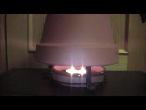 como hacer un calefactor economico - youtube