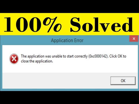 Download How To Fix The Application Was Unable To Start Correctly (0xc0000142) Error In windows (7/8/10 )