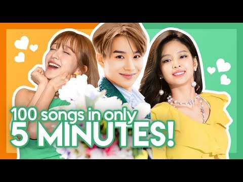 My TOP 100 KPOP SONGS in only 5 MINUTES! +GIVEAWAY