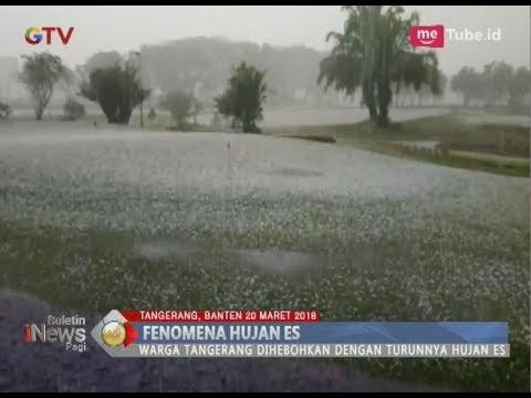 Heboh!! Terdengar Suara Gemuruh, Hujan Es Guyur Tangerang Saat Sore Hari - BIP 21/03
