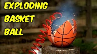 What Happens if you Overfill Basketball - Slow Motion