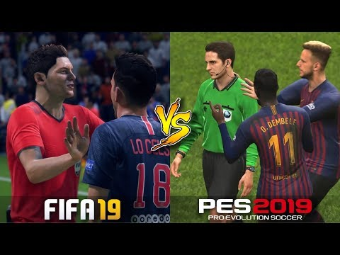FIFA 19 Vs. PES 2019 | Referee Realism | Fouls & Cards | Gameplay Comparison Mp3