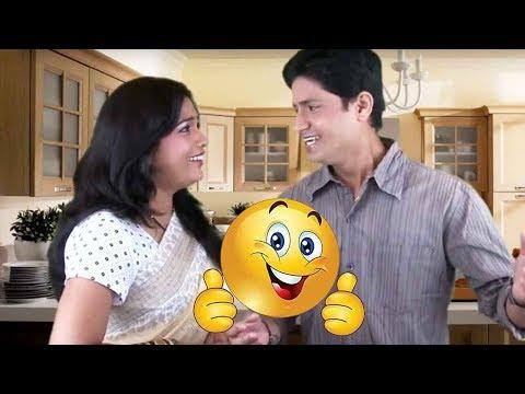 Husband Wife Comedy| Swapnat Mulgi Aali Hoti| Marathi Joke| Entertaining
