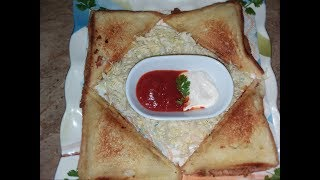 Chese keema sandwich  Easy cooking with as