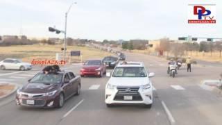 Car Rally visuals at Megastar Chiranjeevi Khaidi No 150 Release Hungama in Dallas, Texas