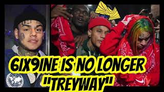 6ix9ine Runs From TreyWay [No Longer Down With The Squad]