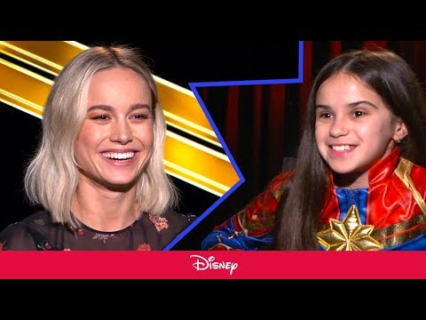 Little Girl Interviews Brie Larson About Captain Marvel | Disney