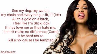 DJ Khaled Ft. Cardi B & 21 Savage - Wish Wish (Lyric Video)