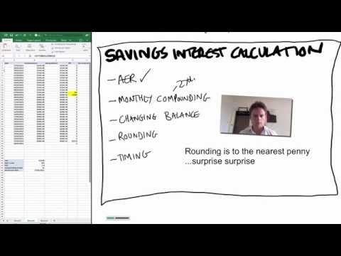 Ep2: How Is Savings Interest Calculated - Live Example And Excel Link
