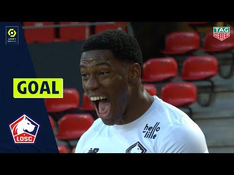 Goal Jonathan Christian DAVID (16' - LOSC LILLE) STADE RENNAIS FC - LOSC LILLE (0-1) 20/21