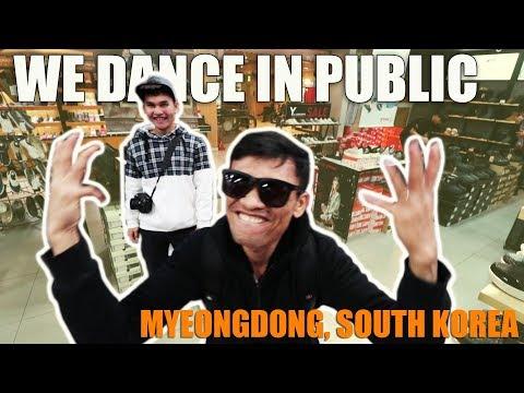 FOOTLOCKER IN MYEONDDONG SOUTH KOREA DANCING IN PUBLIC Buhay OFW