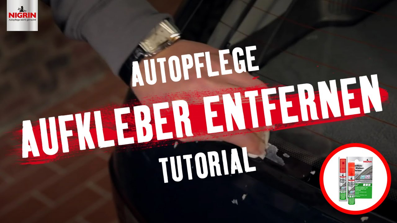 autopflege tutorial aufkleber entfernen youtube. Black Bedroom Furniture Sets. Home Design Ideas