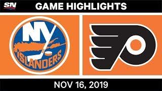 NHL Highlights   Islanders vs Flyers - Nov. 16, 2019