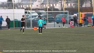 D-Jugend: VSC Reichenbach II - VfB Auerbach II 3:7 (3:4), 2. Runde Kreispokal 2015 am 21.03.2015