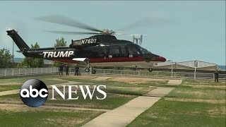 Donald Trump Arrives by Helicopter to the Republican Convention