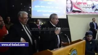 بالفيديو والصور.. المنظمة المصرية الدولية لحقوق الانسان تكرم محافظ مطروح