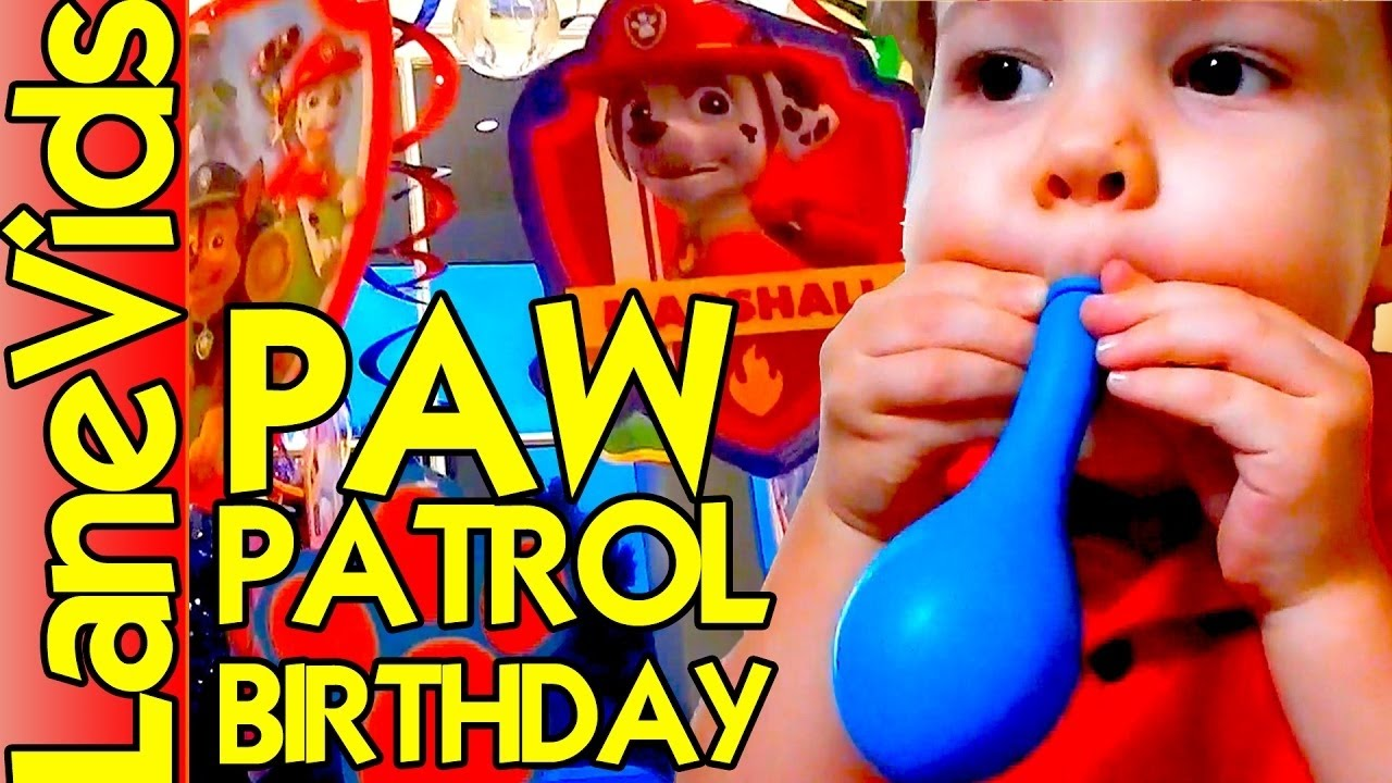 paw patrol birthday party decorations | 4 year old paw patrol party