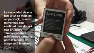 Características de una BATERIA de teléfono móvil - Curso reparación de móviles Expertic