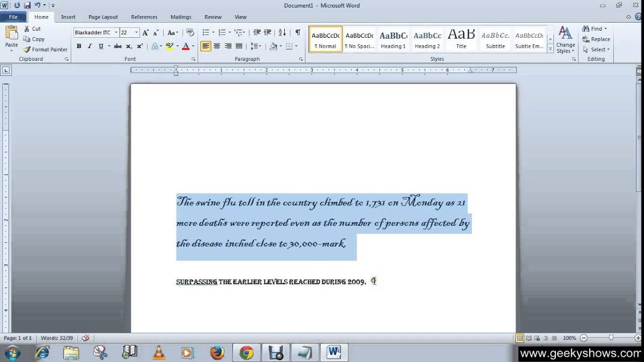 microsoft office word change font font size font color microsoft office word 2010 change font font size font color