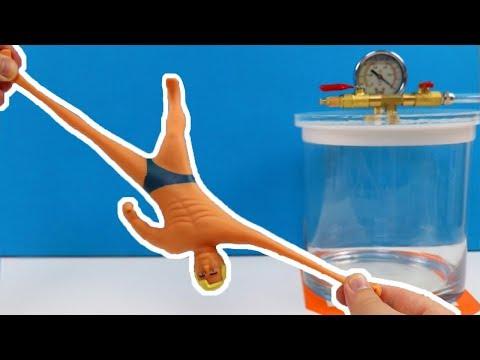 Experiment - Stretch Armstrong und Schleim im Vakuumgerät