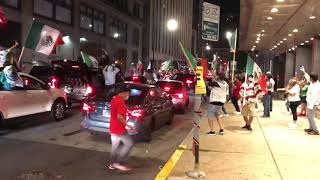 Chicago Mexican Independence car parade 9/15/21 (S. Michigan & E. Harrison)