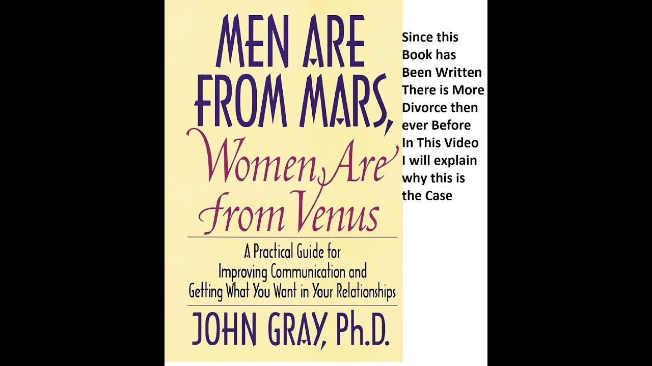 Why men are from mars and