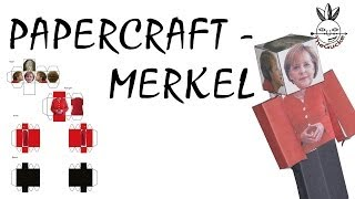Photoshop Tutorial - Papercraft Merkel