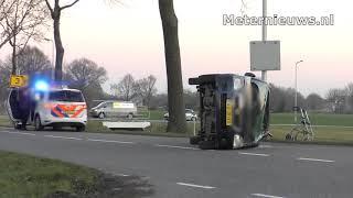 Auto's botsen in Steenwijkerwold