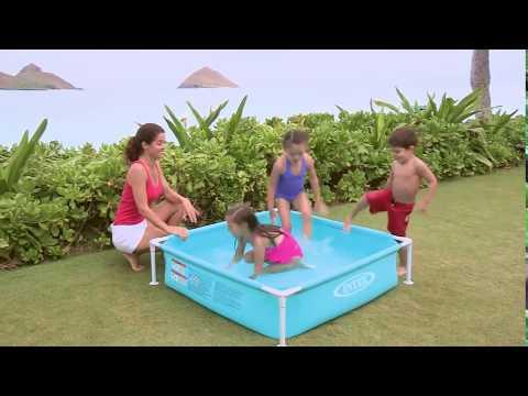 Детский каркасный бассейн Intex Mini Frame 57173 - Funnylife.com.ua - Продолжительность: 0:31