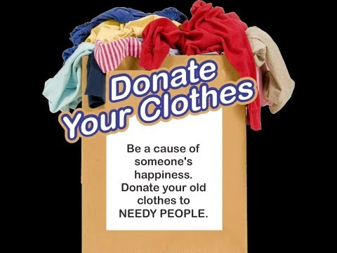 Donate clothes that your children have outgrown. Donate boots and shoes in good condition. Donate maternity clothes. Donate baby clothes and other nursery essentials to help a young family provide a better start for their newborn. Donate coats, hats, scarves, and mittens. Donate the clothes that always find their way to the back of your drawer.