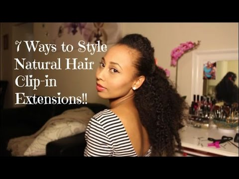 Hair 7 ways to style natural hair clip in extensions hair 7 ways to style natural hair clip in extensions hergivenhair pmusecretfo Images