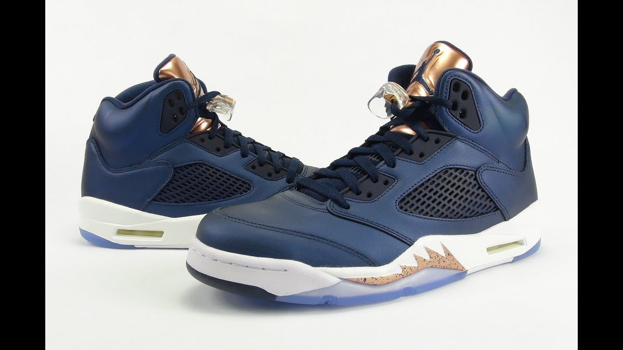 0df83cbfcc4b Air Jordan 5 Bronze Tongue Review - YouTube