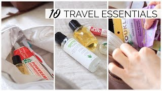 TOP 10 HEALTHY TRAVEL ESSENTIALS | Travel & On-The-Go Tips