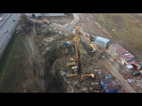 Строительство разворотной эстакады на 25 км Минского ш. 14.11.2019
