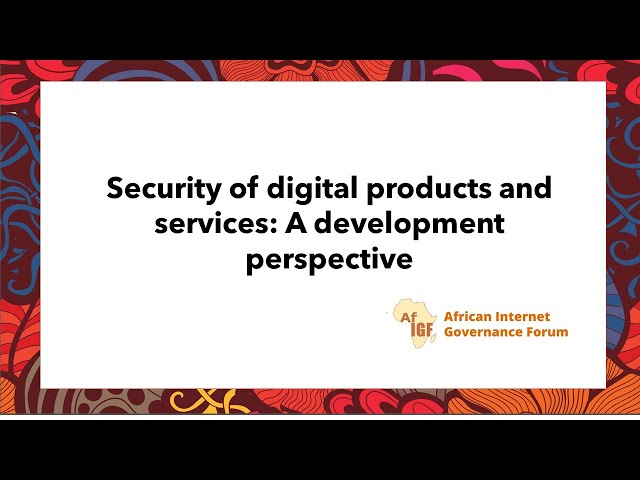 vAIGF 2020 #WS 5: Security of digital products and services: A development perspective