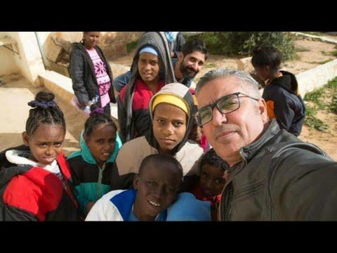 أخبار عربية 0- -سيلفي- لدعم المهاجرين الأفارقة في ليبيا