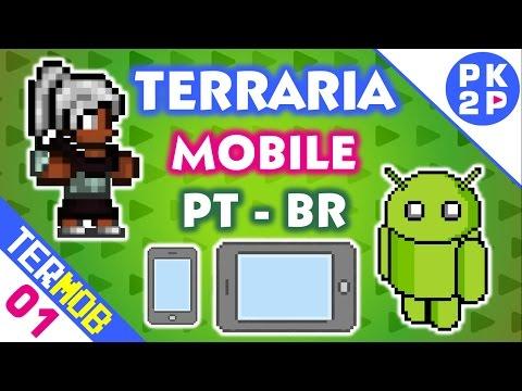 Aventura Sandbox no Tablet! • Terraria Mobile #01 ( Android ) PT BR